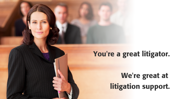 litigation support in Wisconsin, Minnesota, Nationwide